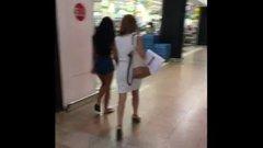Upskirt no panties in public filmed with spycam