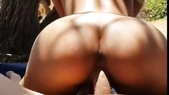 Sexy Asian wife beach fuck and facial with cum in mouth