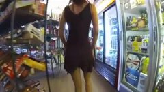 Public nudity a sexy woman flashing nude in public her pussy